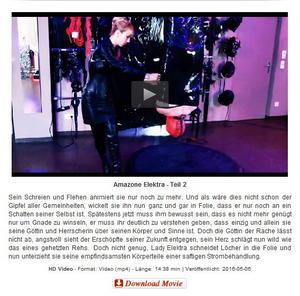 Domina-Bizarre: Amazone Elektra - Teil 2