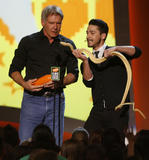 Shia LaBeouf and Harrison Ford - 21st Annual Kids' Choice Awards - Show, Los Angeles, March 29, 2008
